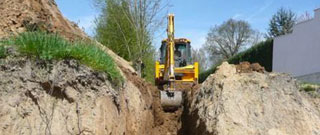 mini-excavations realisees par Excav-Drain